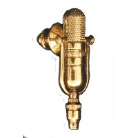 RCA 77D/DX マイク ピン RCA 77D/DX RIBBON Microphone GOLD Pin 572