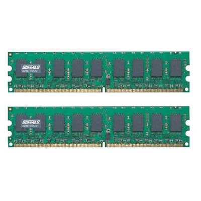 BUFFALO D2/667-E512Mx2 DDR2 SDRAM DIMM with ECC