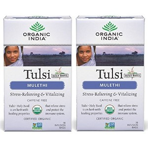 - Organic India Tulsi Mulethi - 18 Tea Bags by ORGANIC INDIA