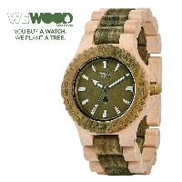 【WEWOOD】ウィウッド 腕時計 ウッド/木製 DATE BEIGE ARMY 木製 9818100