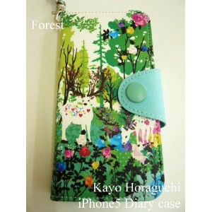 HKPCI0501 [ Forest / フォレスト ]  ホラグチ カヨ アイフォン5 / 5S ダイアリーケース Kayo Horaguchi iPhone5 / 5S diary case