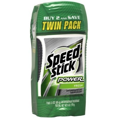 Mennen Speed Stick Antiperspirant Power Fresh, Twin Pack, 6-Ounce by Colgate-Palmolive Co [並行輸入品]