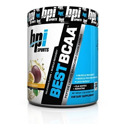 BPI Sports Best BCAA Peptide Linked Branched Chain Amino Energy Powder, Passion Fruit, 10.58-Ounce...