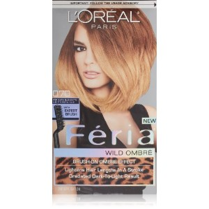 L'Oreal Feria Wild Ombre Hair Color, O70 Dark Blonde to Light Brown by L'Oreal Paris Hair Color ...