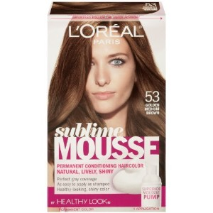 L'Oreal Paris Sublime Mousse by Healthy Look Hair Color, 53 Golden Medium Brown by SUBLIME MOUSSE ...