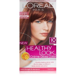 L'Oreal Healthy Look Creme Gloss Hair Color, 6RB Dark Red Brown/Cherry Chocolate by L'Oreal Paris...