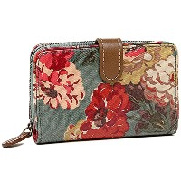 (キャスキッドソン) Cath Kidston キャスキッドソン 財布 CATH KIDSTON 442749 FOLDED ZIP WALLET W/LEATHER-OC AUTUMN BLOOM...