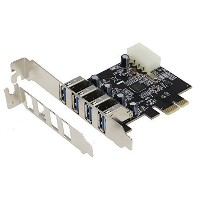 Sedna - PCI Express USB 3.0 4 Port Adapter ( 4×外部USB3.0ポート) - Support Win 8 UASP, Molex 4 Pin電源, (...
