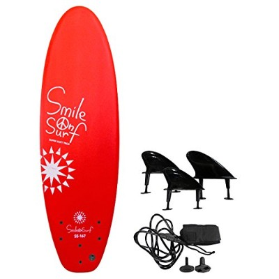 Smile On Surf ソフトボード 167cm レッド