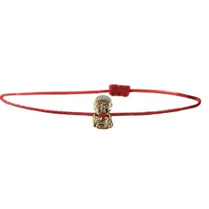 【iluck】お守りアクセCord bracelet with Harmony buddha RED(BBL03) [ジュエリー]