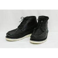 RUSSELL MOCCASIN (ラッセル モカシン) SHORT P.H. NAVIGATOR LEATHER MIDSOLE (BLACK) 8.5E