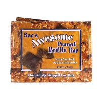 See's シーズ オーサム ピーナッツブリトゥル スナックバー2箱 See's Awesome Peanut Brittle Bar 2 Boxes