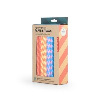 【DETAIL】 Paper Straws ペーパーストロー (Party Stripes)