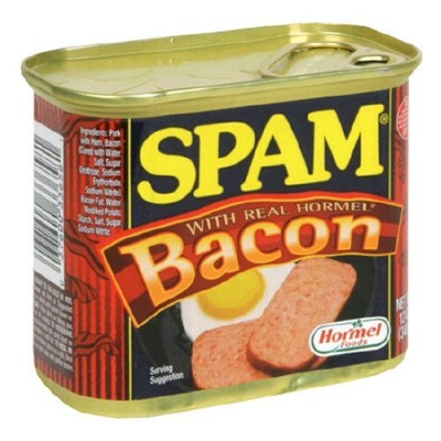 SPAM With Bacon, 12-Ounce Cans (Pack of 6) by Spam