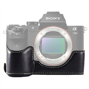 No1accessory XJPT-A7II-D01 ブラック Sony Alpha A7 II . A7 Mark 2 . A7R Mark 2 専用 PU 半分レザー レフ カメラバッグ...