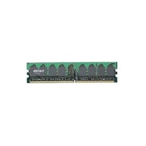 BUFFALO PCメモリ DDR2 533MHz SDRAM(PC4200)240pin DIMM 512MB D2/533-512M