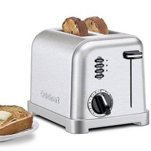 【並行輸入】Cuisinart クイジナート社 Metal Classic 2-Slice Toaster, Brushed Stainless トースター