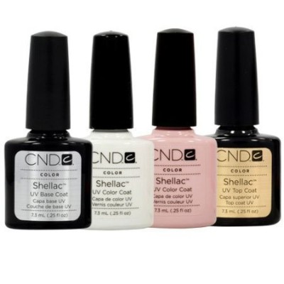 CND Shellac French Manicure Kit Base Top Coat Color White Pink Nail Polish Gel by CND - Creative Nail Design [並行輸入品]