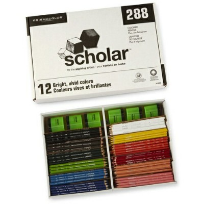 Prismacolor プリズマカラー 色鉛筆 ペーシック12色 各24本 288本セット Prismacolor Class Pack Wood Colored Pencil 1774262・お取寄