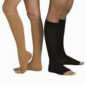Tonus 18-21 mmHg (Moderate Grade Class I) Knee High Medical Compression Stockings with OPEN Toe,...