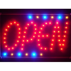 LED看板 サイン 電飾 看板 カフェ バー ADV PRO led119-r OPEN NEW Style Led Neon Sign WhiteBoard