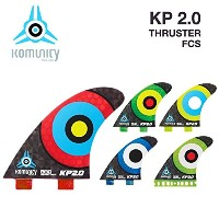 komunity フィン KP2.0 HONEY COMB-THRUSTER FCS レッド