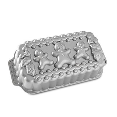 Nordic Ware Gingerbread Family Loaf Pan, Metallic by Nordic Ware