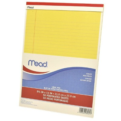 Mead(ミード) 10冊セット リーガルパッド Mead リーガルパッド MLP59604/174146 【 プレゼント ギフト 】【万年筆・ボールペンのペンハウス】 (4000)