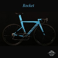 ROCKET(ロケット)【COLOR:BABY BLUE】ROCKBIKES(ロックバイクス)アルミエアロロードバイク【送料プランC】 【完全組立】【店頭受取対応商品】
