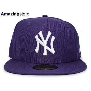 NEW ERA NEW YORK YANKEES 【TEAM-BASIC/PURPLE-WHITE】 ニューエラ ニューヨーク ヤンキース 59FIFTY フィッテッド キャップ FITTED...
