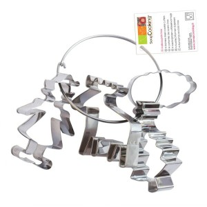 【Scrap Cooking(スクラップクッキング)】【クッキー型 セット】クリスマスクッキー抜き型4個セット【ステンレス】 4 stainless steel cookie cutters...