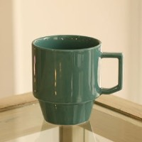 【HASAMI】BLOCK MUG BIG 波佐見焼き (GREEN)