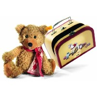 Steiff 113208 シュタイフ ぬいぐるみ テディベア スーツケース Charly Dangling Teddy Bear In Suitcase (Golden Brown)