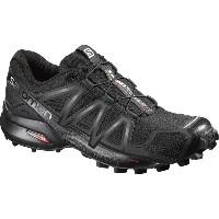 サロモン Salomon レディース ランニング シューズ・靴【Speedcross 4 Trail Running Shoe】Black/Black/Black Metallic