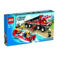 Lego (レゴ) City 7213 Off-Road Fire Truck & Fireboat ブロック おもちゃ