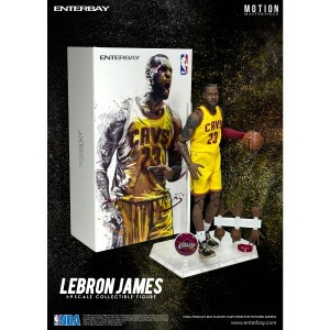 ENTERBAY 1/9 ENTERBAY 1/9 SCALE MOTION MASTERPIECE COLLECTIBLE FIGURE NBA COLLETION LEBRON JAMES MM...
