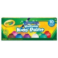 Crayola Washable Kid's Paint 59 ml Bottles Assorted Colors,10-count (3-Pack) (並行輸入品)