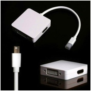 送料無料 Mini DisplayPort/Thunderbolt to HDMI/DVI/DisplayPort 変換アダプタ Mini DP-DVI(24+1)ピン/DP/HDMI 1080P...