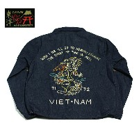 "No.TT13762 TAILOR TOYO テーラートーヨーCOTTON VIETNAM JACKET""FIRE BRATHING DRAGON"""