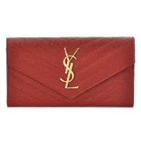 SAINT LAURENT PARIS(サンローランパリ) MONOGRAMME SAINT LAURENT MATEL 二つ折り長財布 372264 B...