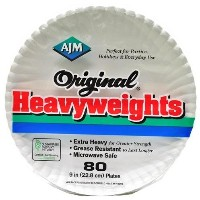 "Original Heavyweights Paper Plates-80 COUNT 9"" PAPER PLATE (並行輸入品)"