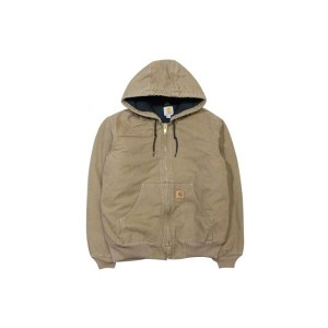 Carhartt SANDSTONE ACTIVE JACKET/QUILTED FLANNEL LINED (J130: FRONTIER BROWN)カーハート/フードダックジャケット