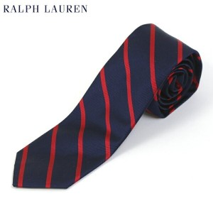 POLO by Ralph Lauren Silk Necktie (NAVY/RED) US ポロ ラルフローレン シルク ネクタイ ストライプ