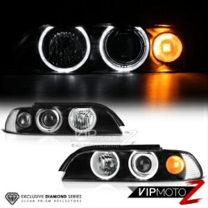 BMW ヘッドライト 1997-2003 BMW E39 5 Series Halo Projector Headlights Pair Set *Infinity Black* 1997-2003...