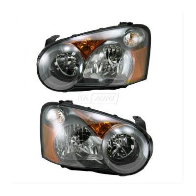 スバル インプレッサ ヘッドライト Headlights Headlamps Halogen Left & Right Pair Set of 2 for 05 Subaru Impreza...