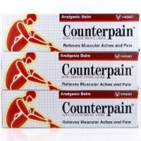 New Counterpain Relieves Muscular Aches and Pain Analgesic Balm Cream Warm 120g. 3 Packs by...