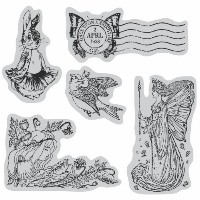 """Graphic 45 Cling Stamps 4.5""""X4.5"""" Sheet-Once Upon A Springtime #2 (並行輸入品)"""