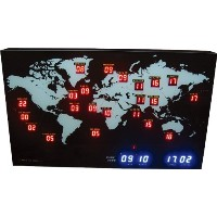 HOUSE USE PRODUCTS(ハウスユーズプロダクツ) LED 時計 MINI WORLD TIME ACL057 [正規代理店品]