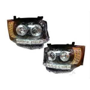 トヨタ ハイエース ヘッドライト HEADLIGHT LAMP PROJECTOR LED L.E.D FOR TOYOTA HIACE COMMUTER 2011 2012 2013...
