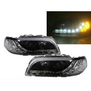 ボルボ ヘッドライト S40/V40 2000-2004 Facelifted Projector Headlight LED DRL R8Look BLACK VOLVO S40 / V40...